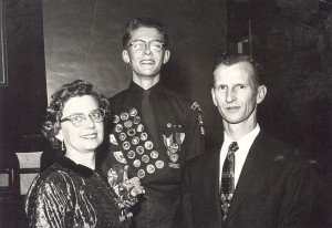 Glenn Hill,   Eagle Scout, 1955