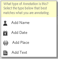 Footnote - Name, Date, Place, Text Annotations