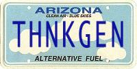 ThinkGenealogy license plate